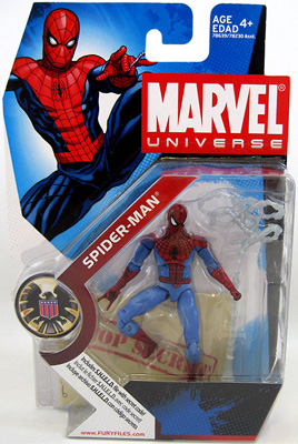 Marvel Universe: Series 1 - Spider-Man (Light Blue) Action Figure #2