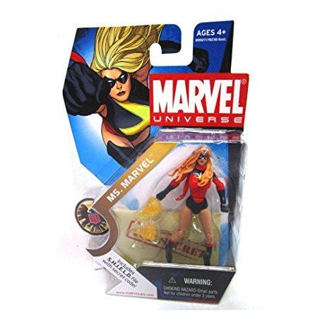 Marvel Universe: Series 1 - Ms. Marvel Action Figure #22 (Red Outfit Variant)