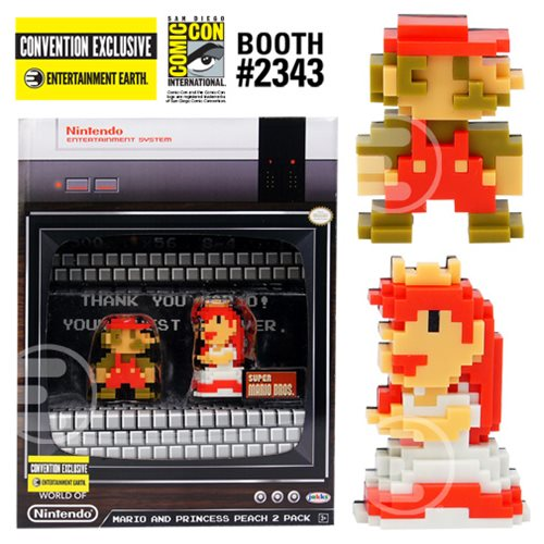 Nintendo 8-Bit Mario and Princess Peach 2.5