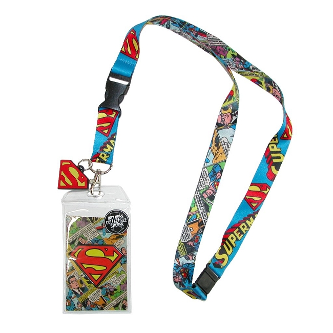Superman Comic Logo Lanyard