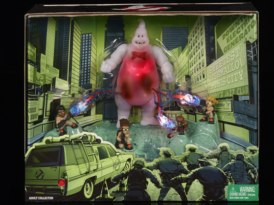 Mattel Ghostbusters 2016: Marshmallow & Cast Lights & Sounds Display Figure Set (SDCC 2016 Exclusive)