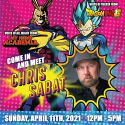 [Pre-Order] Exclusive Skip The Line VIP Ticket with Chris Sabat Sun, April 11th