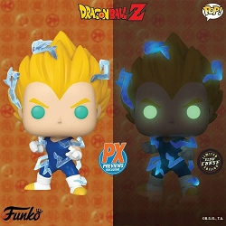 POP! Animation: Dragonball Z - [Chase] Super Saiyan 2 Vegeta Vinyl Figure #709 Limited Glow Chase Edition PX Previews Exclusive