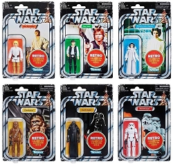 Star Wars Retro Collection 2019 Assortment Wave 1 (Set of 6) E6255AS00