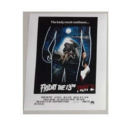 Friday The 13th Picture (A) 8x10 Signed by Warrington Gillette Friday The 13th Picture A 8x10 Signed by Warrington Gillette