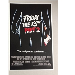 Friday The 13th Poster (B)  11x17 Signed by Warrington Gillette