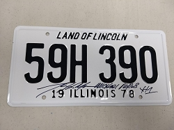 Halloween License Plate Signed by Tony Moran
