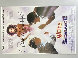 Weird Science Poster B 11x17 Signed by Anthony Michael Hall