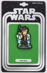Star Wars: Han Solo Lapel Pin w/ Vintage Card Back (Our NYCC Exclusive)