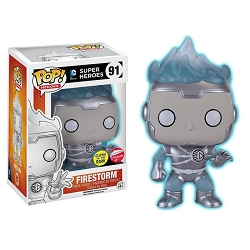 POP! DC Comics: Firestorm [White Lantern] GID Vinyl Figure #91 (SDCC 2016 Fugitive Toys Exclusive)