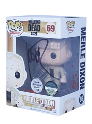 POP! Signature Series: The Walking Dead - Merle Dixon Blood Splatter Variant Vinyl Figure #69 [Signed by Michael Rooker]