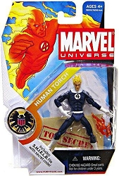 Marvel Universe: Series 1 - Human Torch Action Figure #11 (Dark Blue Variant)