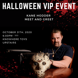 [Pre-Order] Exclusive VIP Halloween Meet and Greet with Kane Hodder aka Jason Voorhees Oct 31th