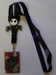 Nightmare Before Christmas Reversable Lanyard *Red Insert*