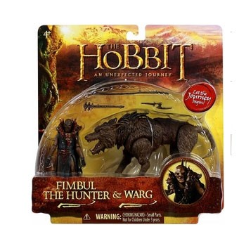 The Hobbit: An Unexpected Journey - Fimbul The Hunter & Warg Action Figure