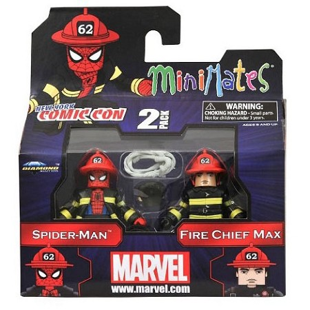 Minimates: Marvel - Spiderman & Fire Chief Max Figure (NYCC 2011 Exclusive)