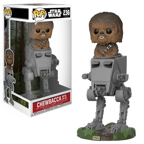 POP! Star Wars: Chewbacca in AT-ST Vinyl Bobblehead Figure #236