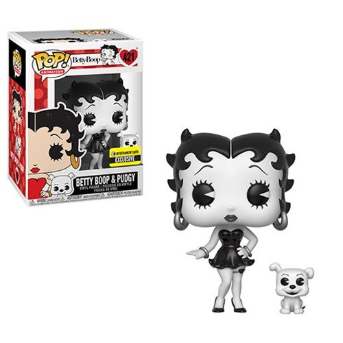 POP! Animation: Betty Boop - Betty Boop & Pudgy (Black & White) Vinyl Figure #421 (Entertainment Earth Exclusive)