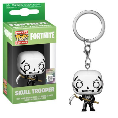 [PRE-SALE] POP! Keychain: Fortnite - Skull Trooper Keychain [Ships in December]