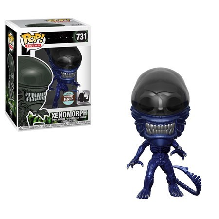 POP! Movies: Alien 40th - Xenomorph Blue Metallic Vinyl Figure #731 (Funko Specialty Series)