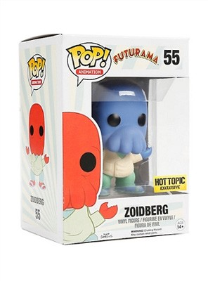 POP! Animation: Futurama - Zoidberg (Blue Variant) Vinyl Figure #55 (Hot Topic Exclusive)