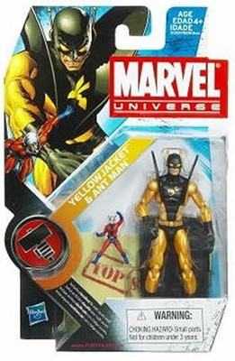 Marvel Universe: Series 2 - Yellow Jacket with Antman 3.75 Action Figure #32