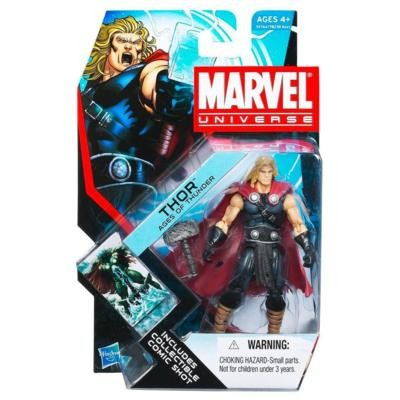 "Marvel Universe: Series 4 - Thor 'Ages of Thunder' 3.75"" Action Figure #1"