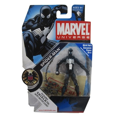 "Marvel Universe: Series 1 - Black Costume Spider-Man 3.75"" Action Figure #18"