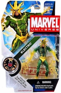 "Marvel Universe: Series 1 - Electro 3.75"" Action Figure #25 (Transparent Arms) Variant"