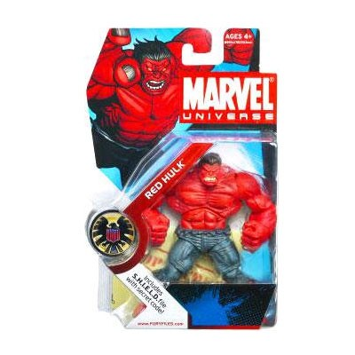 "Marvel Universe: Series 1 - Red Hulk 3.75"" Action Figure #28"