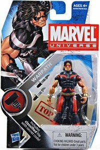 Marvel Universe: Series 2 - Warpath Action Figure #3 (Blue/Red Costume Variant)
