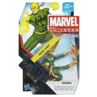 "Marvel Universe: Series 5 - Iron Fist 3.75"" Action Figure #2 (Yellow Dragon)"