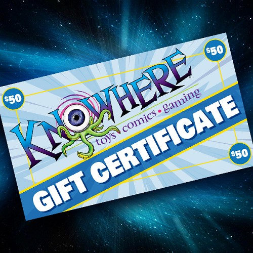 Knowhere Toys $50 Gift Certificate
