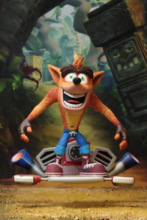 "NECA Crash Bandicoot: Crash Bandicoot with Hoverboard Deluxe 7"" Scale Action Figure"