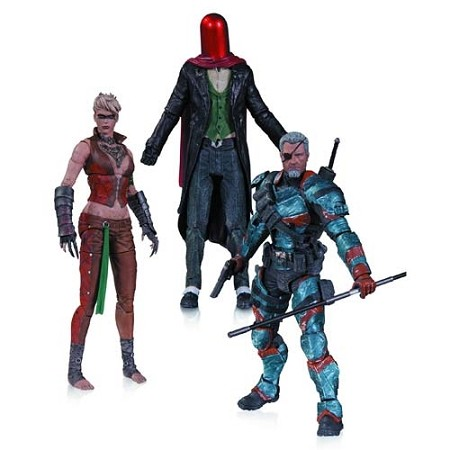 DC Collectibles: Batman: Arkham Origins - Deathstroke, Joker (Red Hood), Copperhead Action Figure 3-Pack