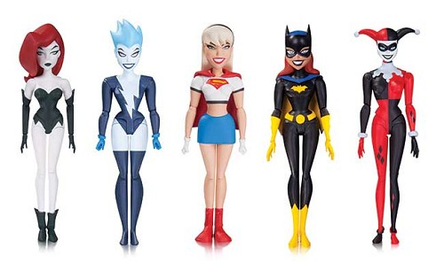DC Collectibles: The New Batman Adventures - Harley Quinn, Poison Ivy, Livewire, Supergirl & BatGirl