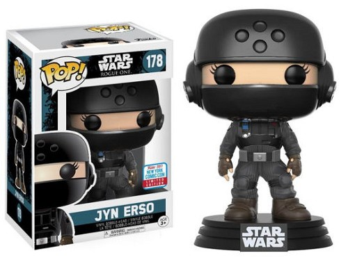 POP! Star Wars: Rogue One - Jyn Erso Vinyl Bobblehead Figure #178 (NYCC 2017 Exclusive)