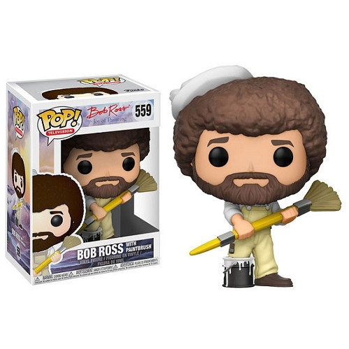 POP! Television: The Joy of Painting - Bob Ross /w Paintbrush Vinyl Figure #559