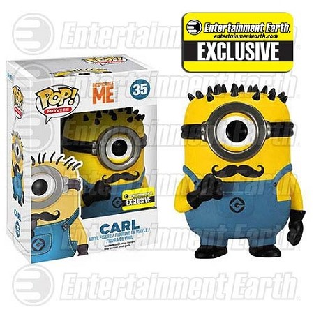 POP! Movies: Despicable Me 2 - Mustache Carl Vinyl Figure #35 (Entertainment Earth Exclusive)