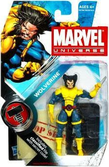 Marvel Universe: Series 2 - Wolverine Action Figure #2 (Normal Head Variant)