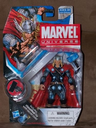 "Marvel Universe: Series 2 - Thor 3.75"" Action Figure #12 (Blue Hammer Variant)"
