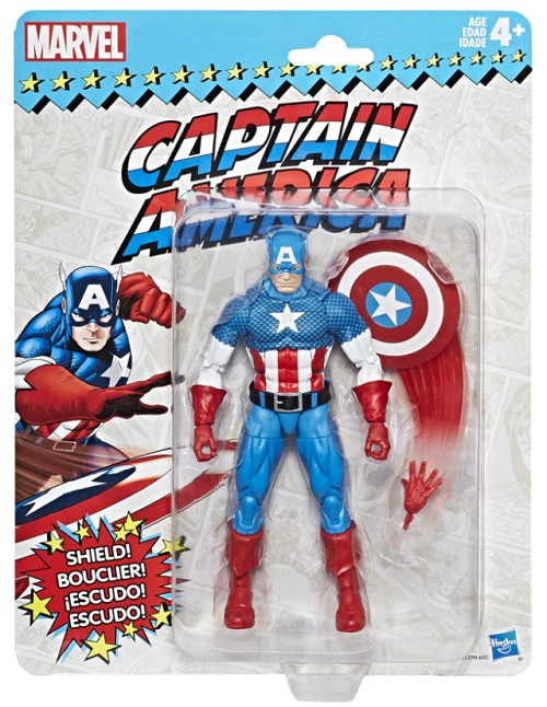 "Marvel Legends: Vintage Series - Captain America 6"" Action Figure"
