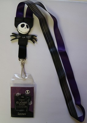 Nightmare Before Christmas Reversable Lanyard *Purple Insert*